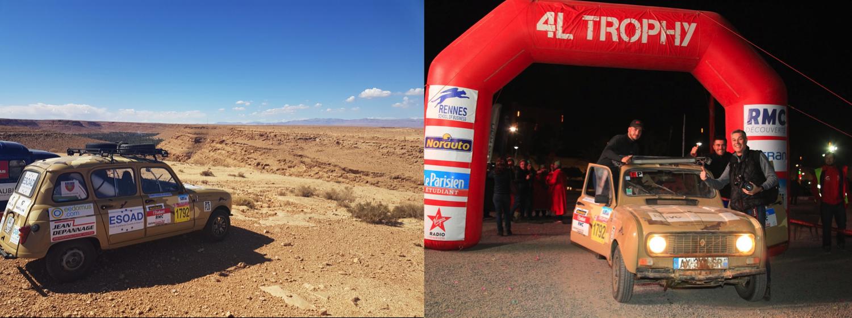 ESOAD - 4L TRophy 2018 desert et arrivée Marrakech